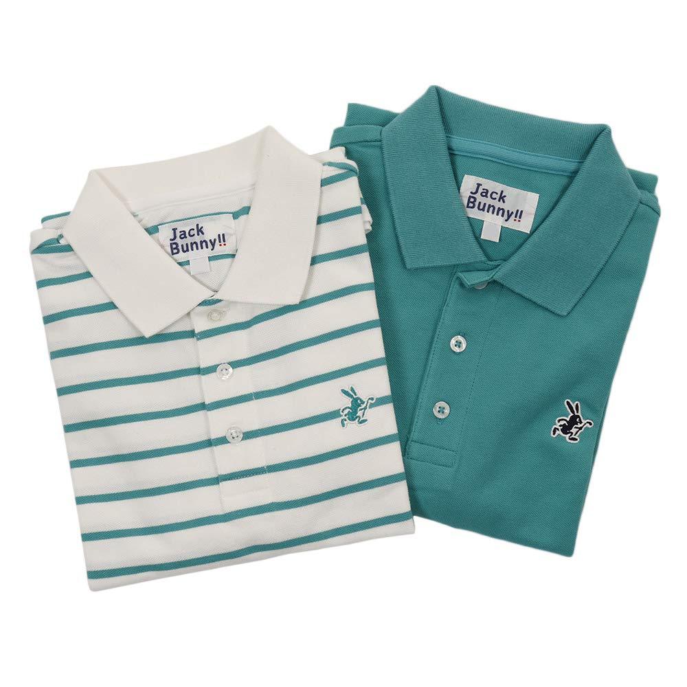 ジャックバニー(ジャックバニー) ベア鹿の子 2枚セット 半袖ポロシャツ 264-9960231-130 140 黄緑 B07Q7Y2YKP