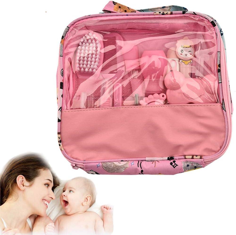 Reci/én Nacidos Ni/ño De 13pcs Beb/é Salud Set De U/ñas Cuidado Infantil Premium Set Accesorios Para El Cuidado Del Beb/é Para Los Beb/és Ni/ños Rosa