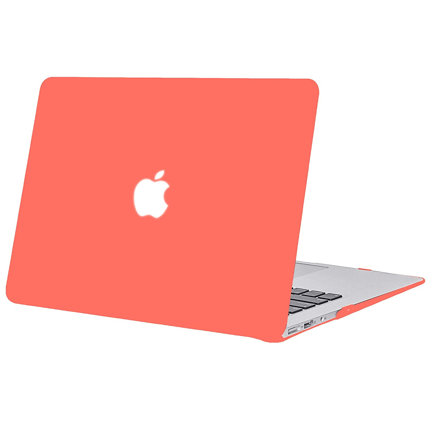 A1369 Ultra Mince S/érie Orange Corail Plastique Mate Rigide /Étui avec Couverture de Clavier en Silicone pour 2010-2017 MacBook Air 13.3 Mod/èle A1466 TECOOL Coque MacBook Air 13 Pouces,