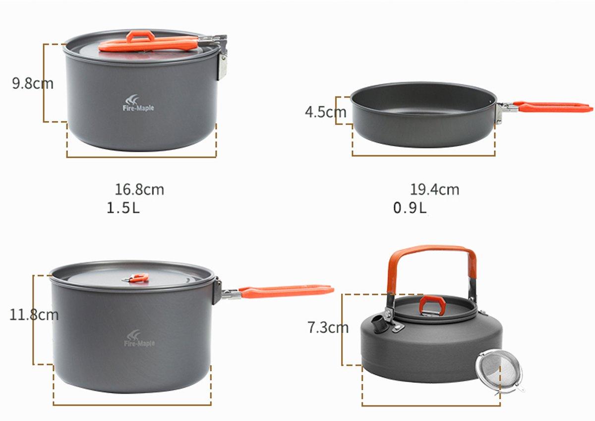 K&E Online Shop Outdoor Pot Sets Tragbar Rucksackreisen Wandern Camping Kochgeschirr Kochen Set