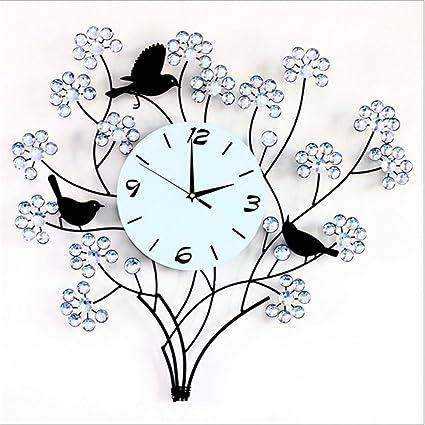 Moderno reloj de pared grande, sin sonido digital decorativo relojes, Creative árbol de barrido