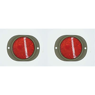 Omnia Warehouse 2 pcs/Set MS35387-1 9905-00-205-2795 New RED Reflector Lens MS35387-1 M151 M37 M998 M35 M813 M35A2 M998 MS35387-1 2pcs/Set: Automotive
