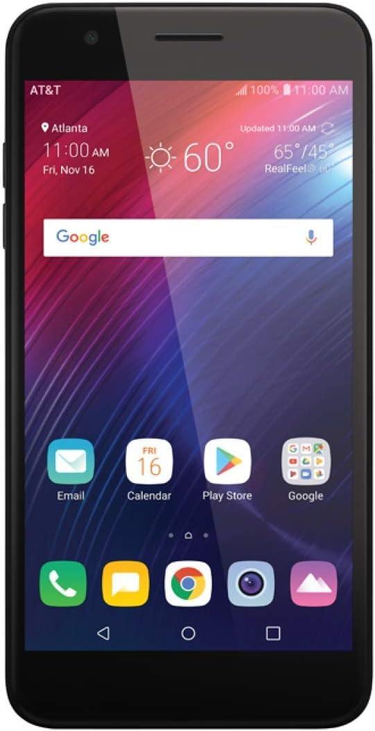 LG Phoenix Plus K30 / LM-X410AS 16GB AT&T Unlocked Smartphone (Black) (Renewed)
