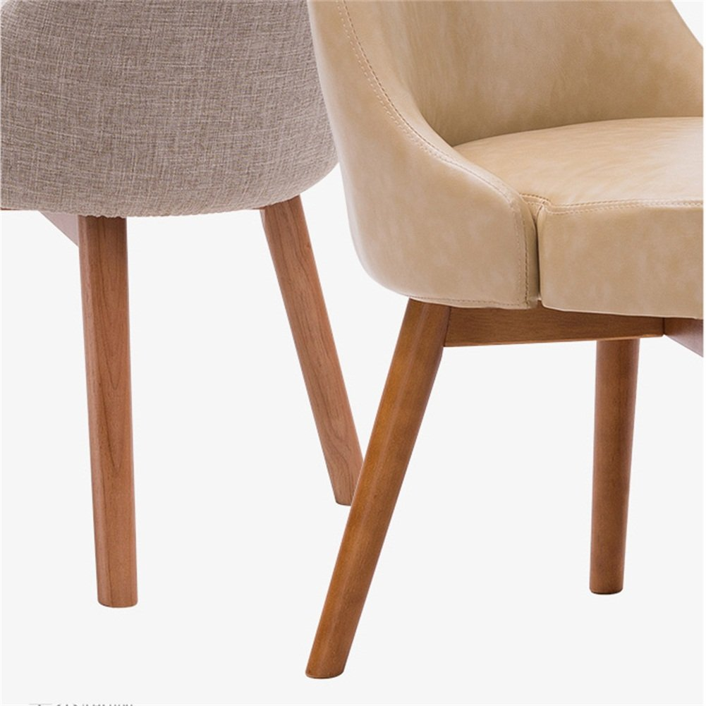 fb5c81094af14 Amazon.com: JUNZH Wooden Dining Chair SOHO Negotiating Chair ...