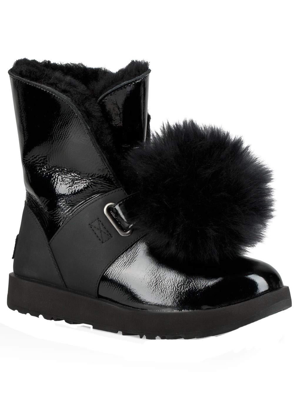 UGG Women's W Isley Patent Waterproof Fashion Boot Black 8 M US by UGG