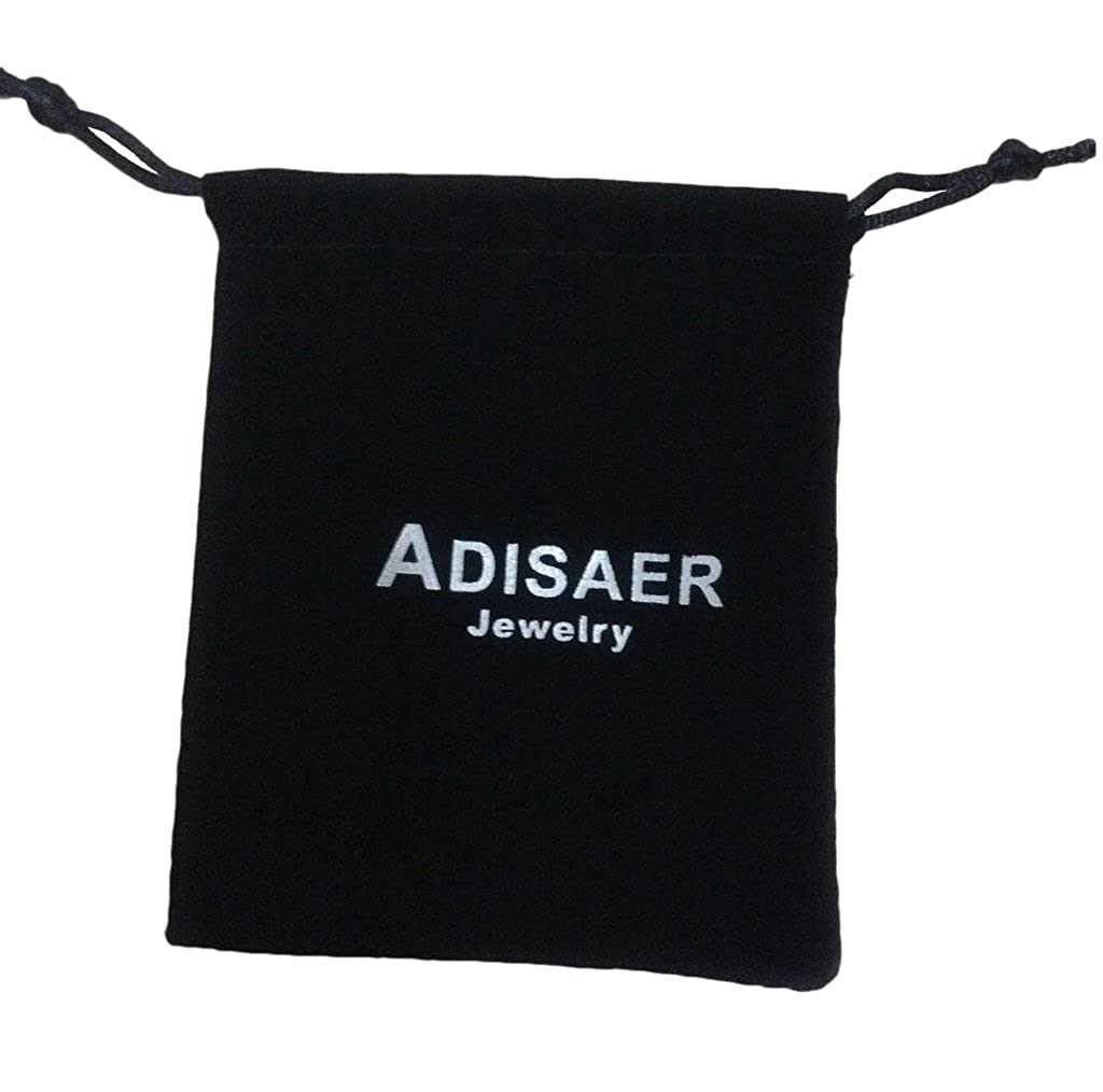 Adisaer Stainless Steel Lovers Pendant Necklace Gold Silver Heart Four Leaf Clover Key CZ