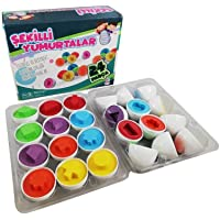 Şekilli Yumurtalar 24 Parça Eğitici Oyuncak