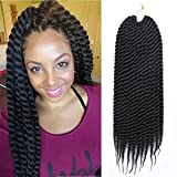 #10: Refined Hair Synthetic Crochet Braids For Woman 18Inch 12roots/pack Ombre Senegalese Twist Crotchet Braid Hair Extensions 7Packs/Lot (18inch, 1B)