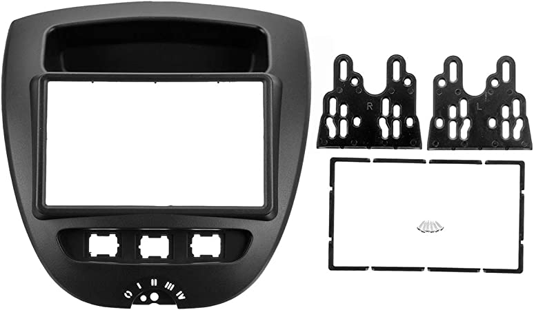 Pour Toyota IQ Façade Radio Installation Montage Cadre Double DIN 2-din Noir