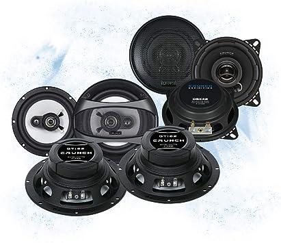 Crunch Front//Heck 16,5cm//10cm Auto Lautsprecher//Boxen//Speaker Komplett-Set f/ür VW