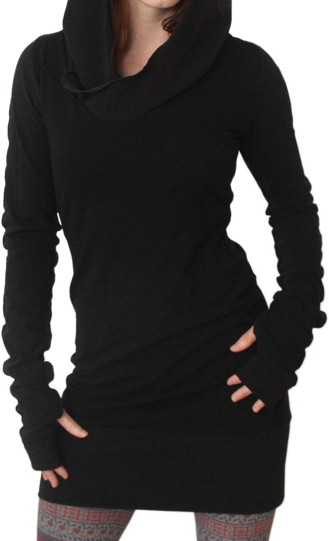 Fanvans Women Casual Long Sleeve Slim Hooded Pure Tunic Sweater