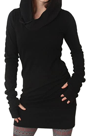 df3ff300ca1 Fanvans Women Casual Long Sleeve Slim Hooded Pure Tunic Sweater  Amazon.ca   Clothing   Accessories