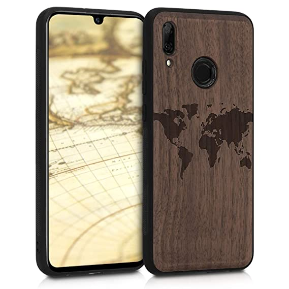 Amazon.com: kwmobile Wooden Protection case for Huawei P ...
