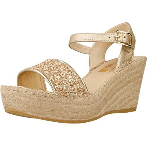 Alpargatas para Mujer, Color Plateado, Marca VIDORRETA, Modelo Alpargatas para Mujer VIDORRETA 37900GTDO Plateado: Amazon.es: Zapatos y complementos