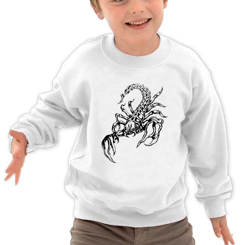 JasonMade Kids Scorpion Tattoo Humor Crewneck Pullover Sweaters