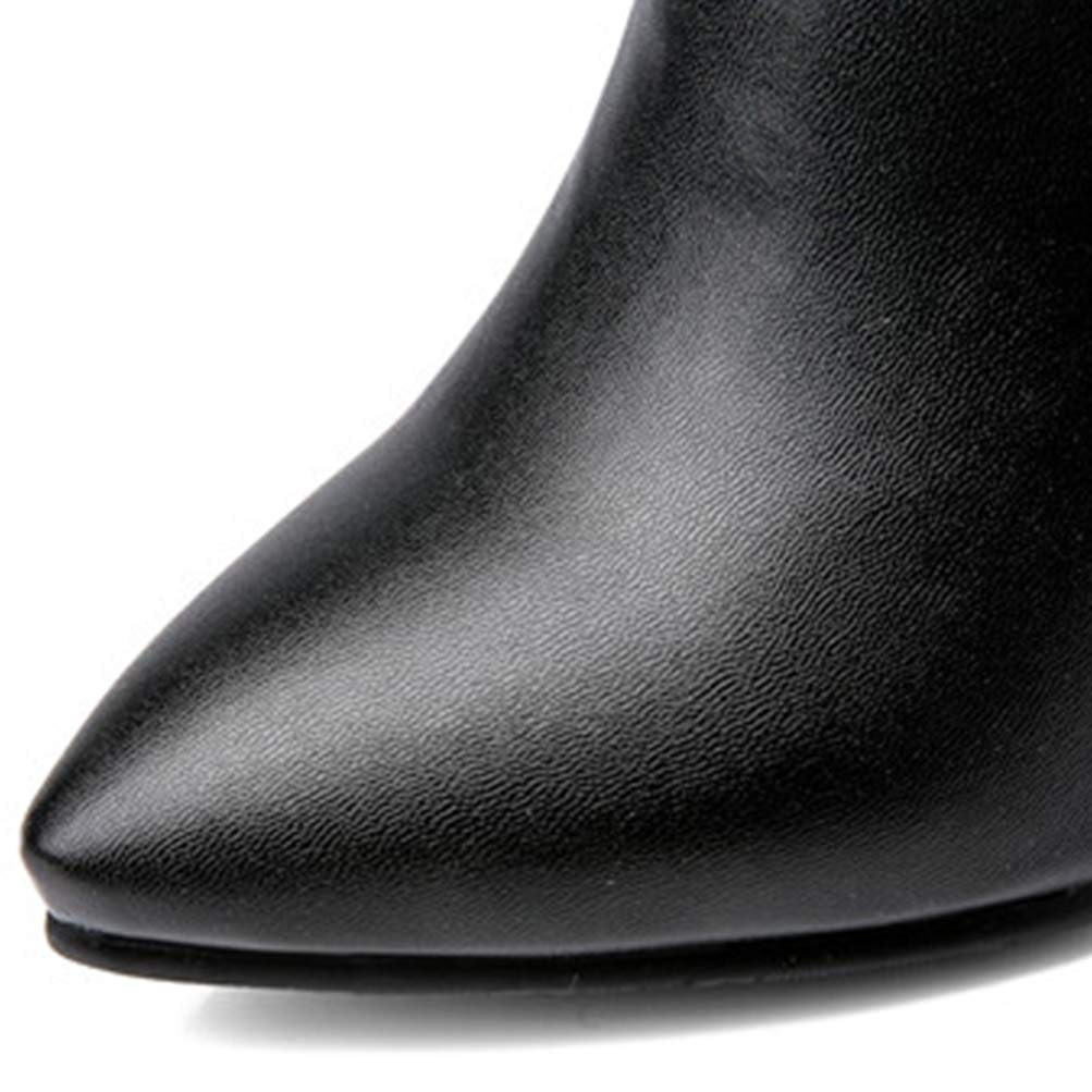 Frauen Kurze Plüsch Stilettos dünne Fersenschuhe weibliche Kristallpumpen Kristallpumpen Kristallpumpen Spitze Zehen High Heels Reißverschluss Stiefeletten dbc554