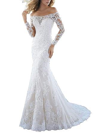 Robe de mariee longue manche longue