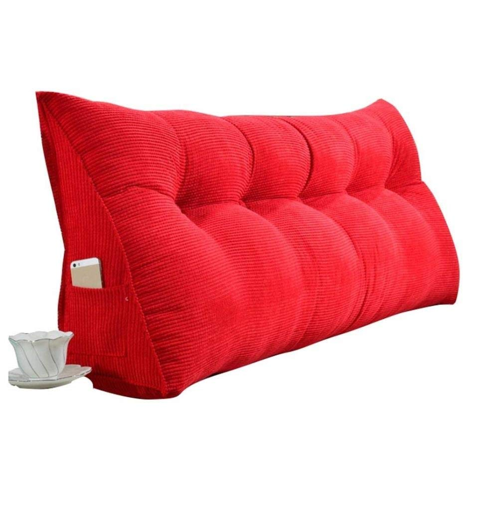 YJLGRYF Headboard Cushion Simple Bed Head Cushion Triangle Double Sofa Large Back Tatami Bed Soft Pack Bed Pillow Removable Bed,8 Colors& 9 Sizes Lumbar pad for Office Bed sof