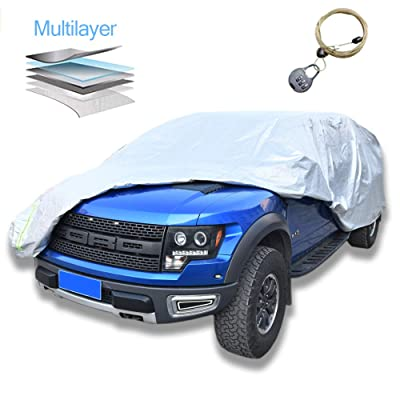 "AOYMEI Pickup Truck Cover Waterproof All Weather,Windproof Sunproof Outdoors Car Covers with Cotton,Universal Fit (Truck, Length Up to 210""): Automotive"