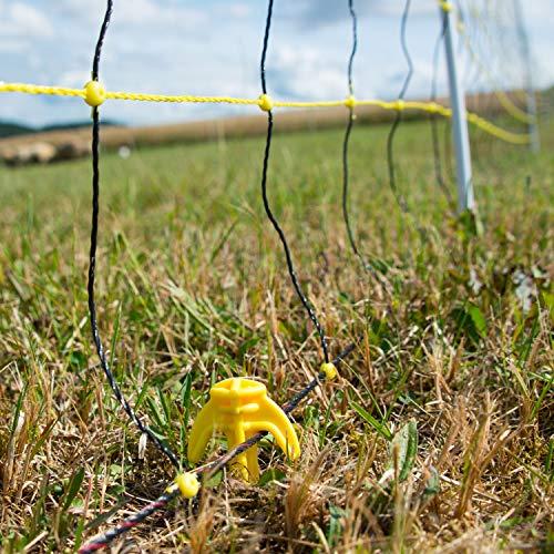 Weidezaun horizont Schafnetz Elektrozaun Ziegenzaun schwarz Schafzaun Einzelspitze Elektronetz gelb H/öhe 90cm 14 Pf/ähle L/änge 50m horinetz energy perfekt f/ür den Schutz Ihrer Schafe