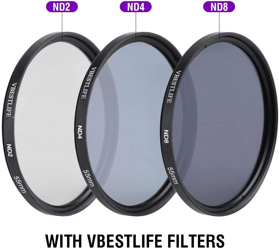 Neufday FDL Filter ND2 ND4 ND8 Reducer Filter Kit and Accessory Kit 52MM