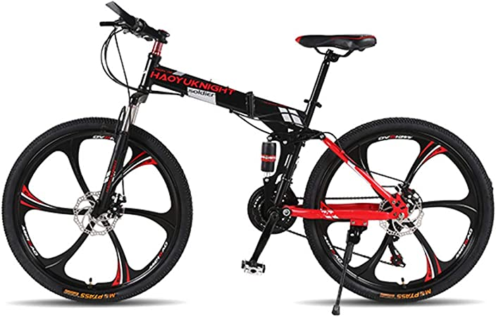 QWG 26 Pulgadas 21 Bicicletas Plegables de Velocidad Hombre/Mujer ...