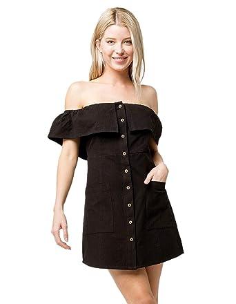0fe6e4ab8f Amazon.com  O Neill Esmeralda Off The Shoulder Dress