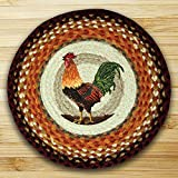 15.5in. x 15.5in. Rooster Round Chair Pad - Set of 4