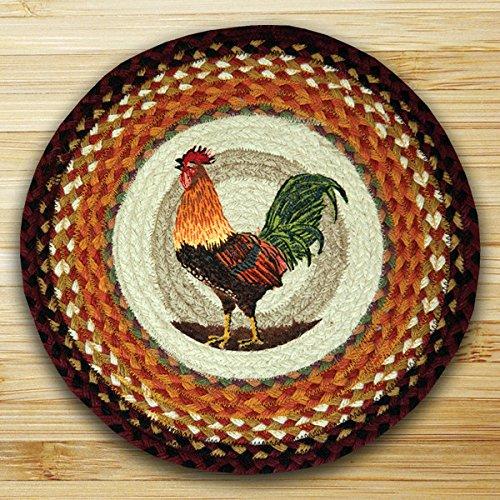 (15.5in. x 15.5in. Rooster Round Chair Pad)