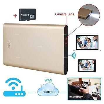 Wiseup 8 GB 1280 x 720P HD Wifi Red Cámara Espía Banco de Poder movimiento attivato ...