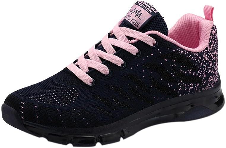 Zapatillas de Deporte para Mujer Otoño Invierno PAOLIAN Calzado de Dama Moda Zapatos de Escolares Cordones Breathable Senderismo Negras Calzado de Trabajo Running Aire Libre y Deporte de Exterior: Amazon.es: Zapatos y