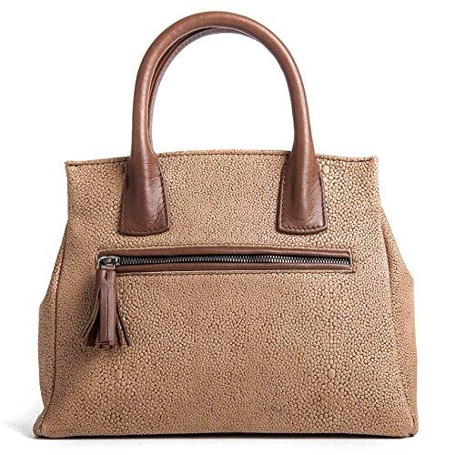 Milano - Passione Bags - Borsa da donna in vera pelle effetto razza tortora a mano o spalla. Made in Italy