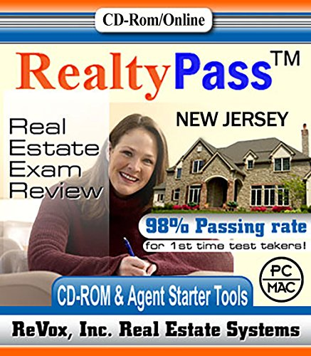 2017 New Jersey PSI Realty Pass Real Estate Exam Prep Study Guide Questions and Answers Interactive Software