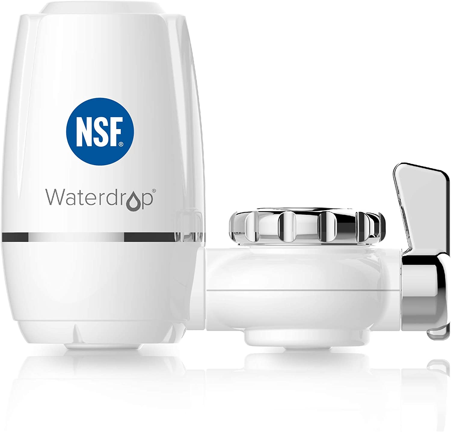 Waterdrop WD-FC-03 NSF Certified 320-Gallon Long-Lasting Water Faucet Filtration System, Faucet Filter, Removes Chlorine, Harmful Contaminants Metals & Sediments-Fits Standard Faucets,1 Filter Include