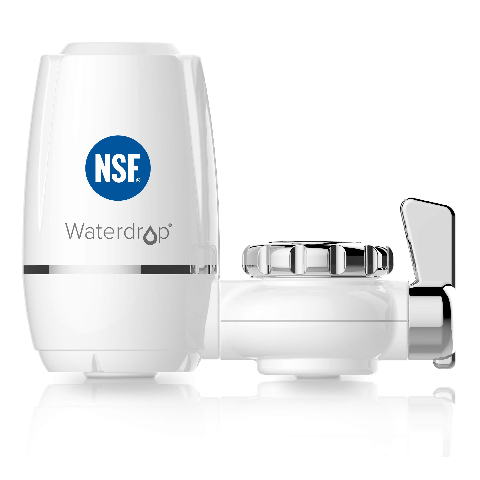 Waterdrop WD-FC-03 NSF Certified 320-Gallon ACF Water Faucet Filtration System, Faucet Filter, Reduces Chlorine, Harmful Contaminants Metals & Sediments-Fits Standard Faucets,1 Filter Include