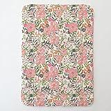 Carousel Designs Pink and Orange Floral Tropic Toddler Bed Comforter