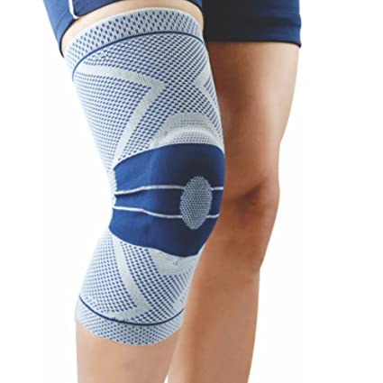 755faedd4a Buy Dyna 3 D Knitted Knee Support Brace -Active Support-Premium Knee Cap  for Pain Relief (X-Large-Left Leg, Grey) Online at Low Prices in India -  Amazon.in
