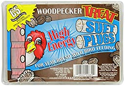 C & S Products Woodpecker Treat Suet Plug, Pack of 12