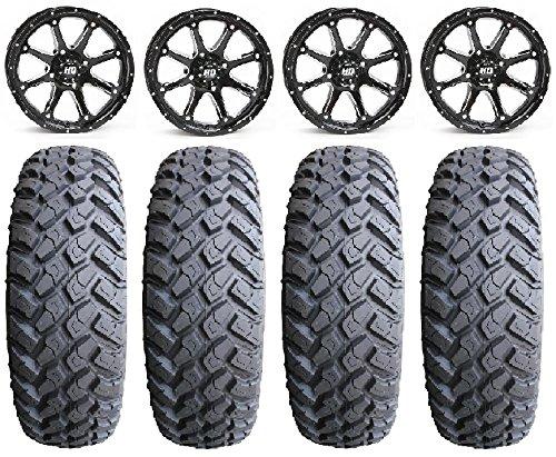 Bundle - 9 Items: STI HD4 14'' Wheels Black 31'' MotoHammer Tires [4x156 Bolt Pattern 12mmx1.5 Lug Kit] by Powersports Bundle (Image #4)