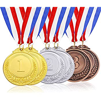 amazon com caydo 6 pieces gold silver bronze award medals olympic