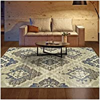 Superior Area Rug 2' x 3' 10mm Pile Height with Jute Backing, Woven Fashionable and Affordable Walker Collection, Brown-Beige