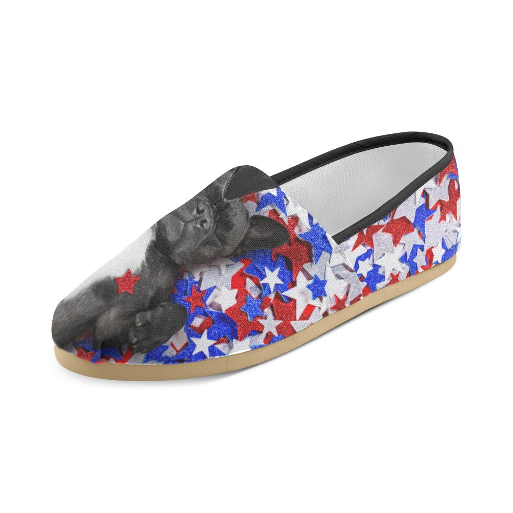 D-Story Fashion Sneakers Flats French Bulldog Womens Classic Slip-on Canvas Shoes Loafers