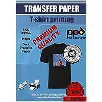 PPD A4 x 10 vellen PREMIUM Inkjet T-shirt Transfer Papier voor Inkjet printers - Transfer folie speciaal voor donkere…