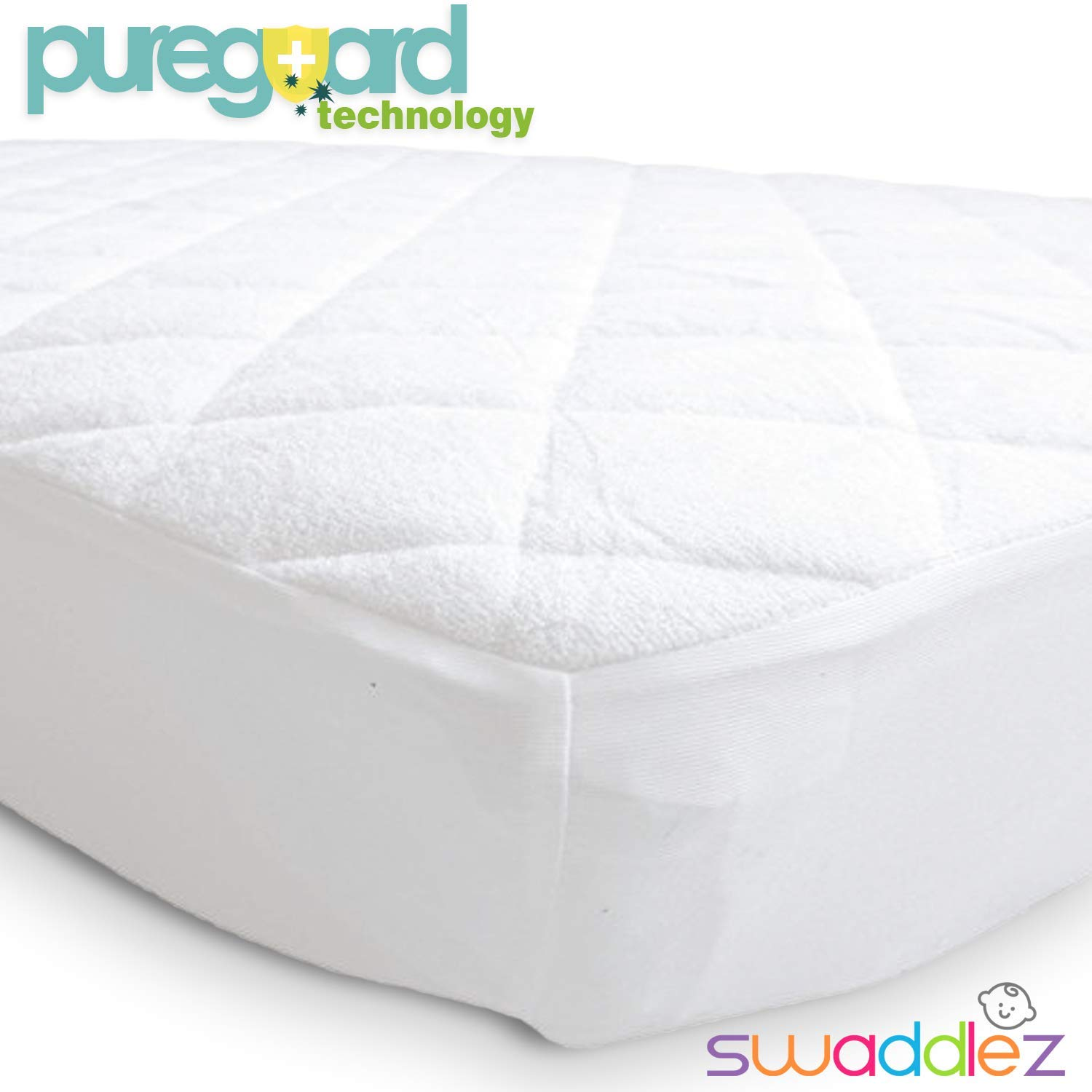 Very Helpful Crib Mattress Pad Amazon.com : Pack N Play Mattress Pad | Mini Crib Waterproof Protector |  Padded Cover For Graco Playard Matress | Fits All Baby Portable Cribs, ...