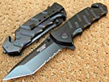 8″ Defender Spring Assisted Tanto Point Rescue P/ Knife 5410, Outdoor Stuffs