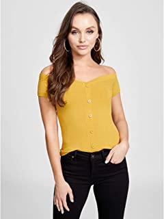 8c65f967ca1c0 G by GUESS Women s Vivica Short-Sleeve Off-The-Shoulder Cold ...