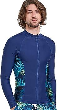 JASQSY Surf Ropa Tops 2019 Verano Mens Impreso Mangas largas Camisa Protector de Pantalla de Traje de baño Camiseta Playa UV Surf Ropa,XL: Amazon.es: Hogar