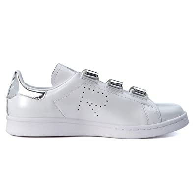 stan smith white and silver
