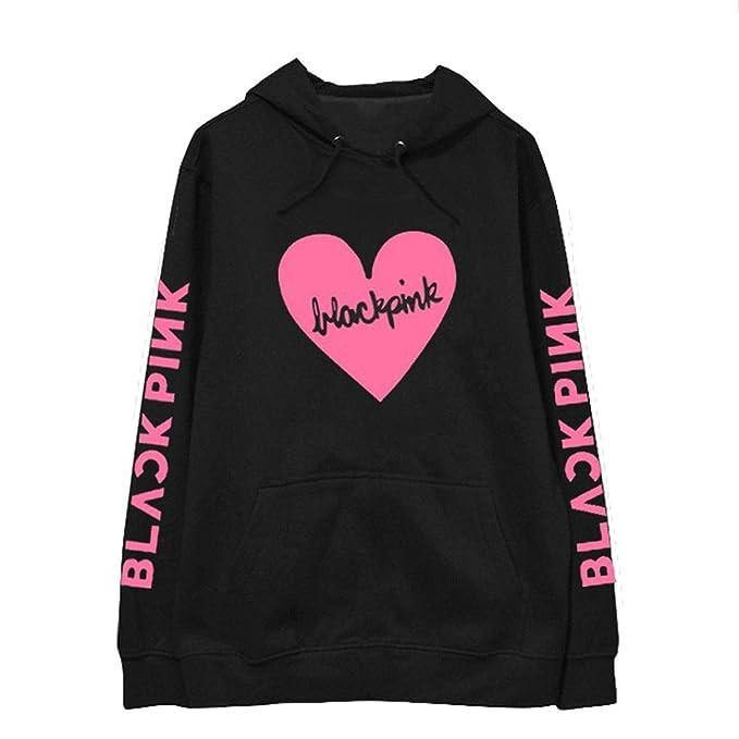 Forever Younger BLACKPINK Álbum Kpop Sudadera Hip Hop Cartas Informales Sudaderas Con Capucha Ropa Pullover Camisetas Manga Larga Impresa: Amazon.es: Ropa y ...