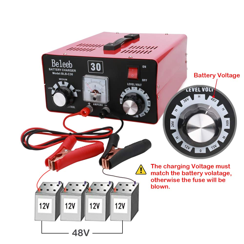 Amazon.com: Cargador de batería portátil 110 V CA a CC 12 V ...